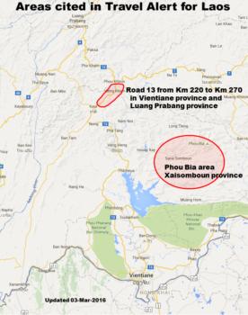 Travel Alert US Embassy In Laos - Us travel alert map